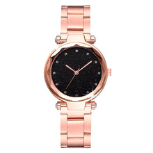 Bullion Gold Zaru Sparkly Watch-Black and Rose Gold - Brilliant Co