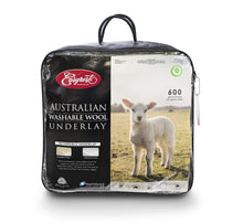 Load image into Gallery viewer, Easy Rest Australian Washable Wool Underlay 600GSM Reversible - King