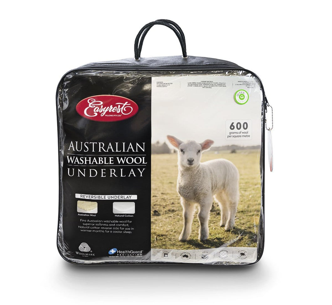 Easy Rest Australian Washable Wool Underlay 600GSM Reversible - King