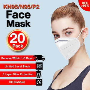 20Pcs 5-Layer KN95/N95/P2/PM2.5 Reusable Disposable Respirators EXPRESS DELIVERY - Brilliant Co