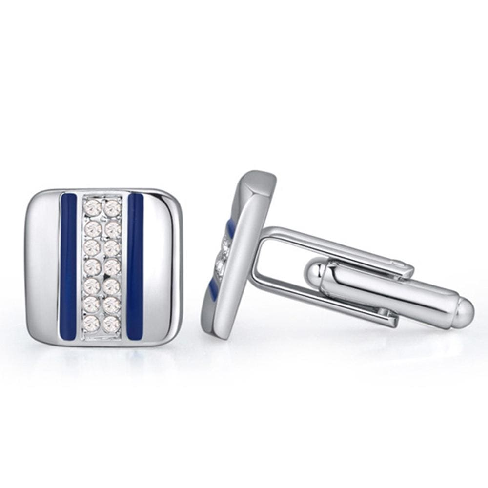 Speed Lane Cuff Links Embellished with Swarovski crystals - Brilliant Co