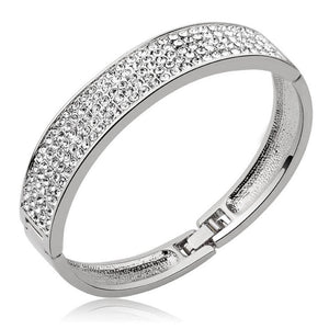 Classic Bangle Embellished with Swarovski crystals - Brilliant Co
