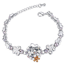 Load image into Gallery viewer, Butterfly Meadow Bracelet Clear Embellished with Swarovski crystals - Brilliant Co