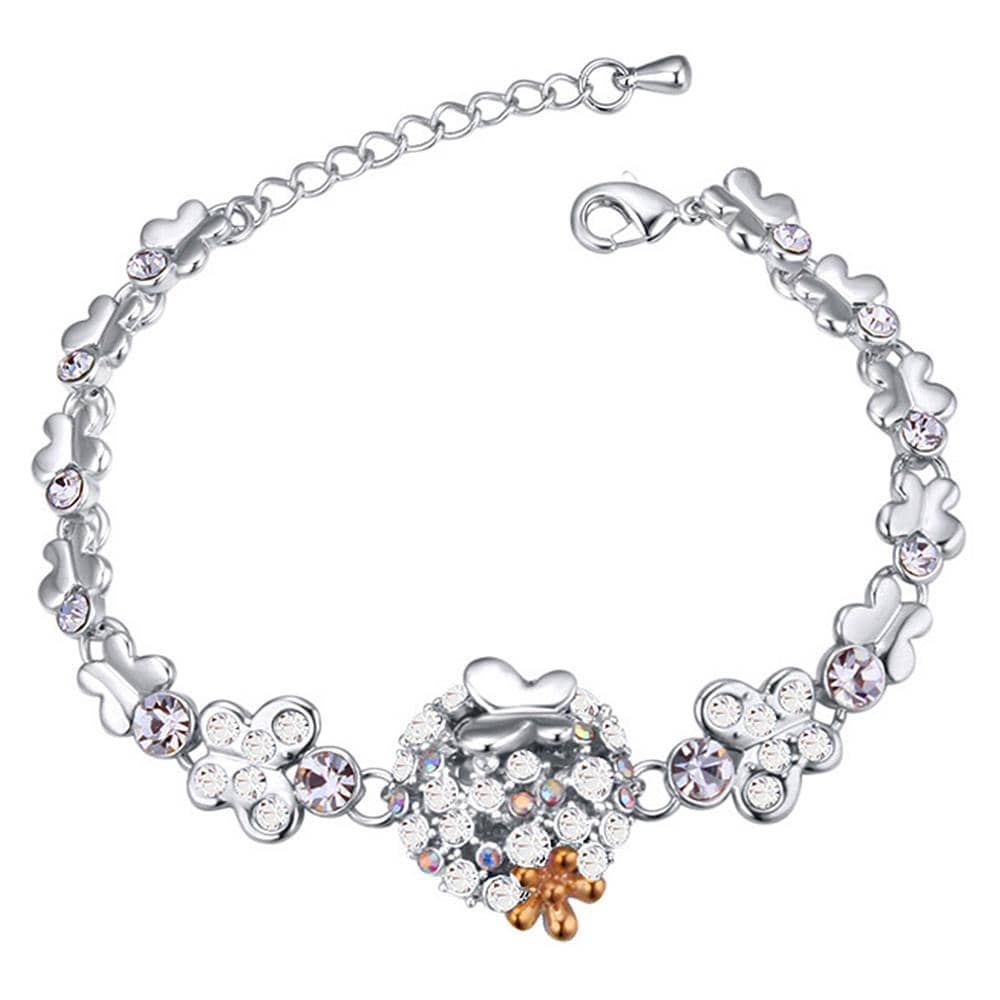 Butterfly Meadow Bracelet Clear Embellished with Swarovski crystals - Brilliant Co