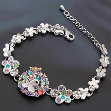 Butterfly Meadow Multicolour Bracelet Embellished with Swarovski crystals - Brilliant Co