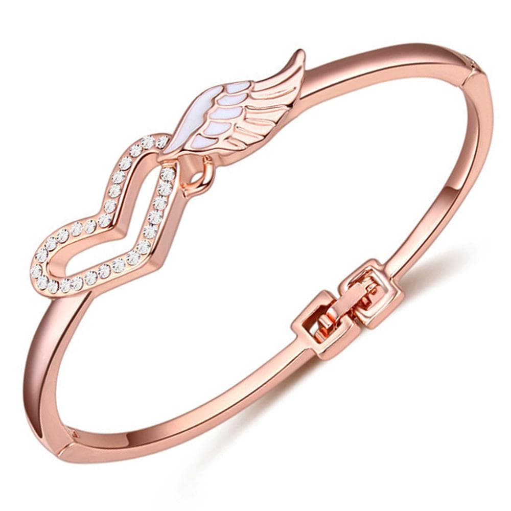 Romantic Wings Bangle Embellished with Swarovski crystals