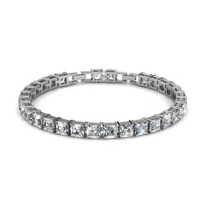 Alysa Tennis Bracelet Embellished with Swarovski crystals - Brilliant Co