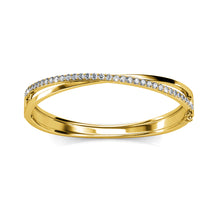 Load image into Gallery viewer, Perfection Bangle Embellished with Swarovski crystals - Brilliant Co
