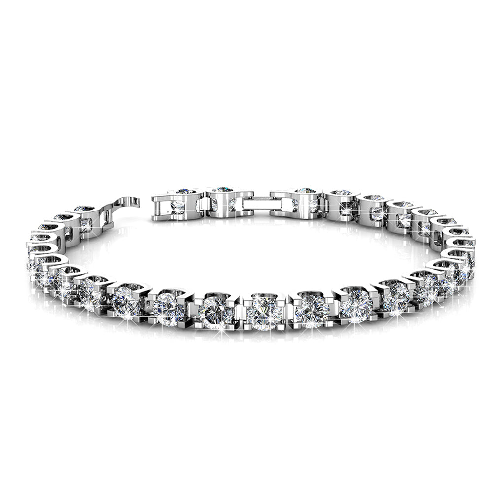 Princess Elena Bracelet Embellished with Swarovski crystals - Brilliant Co