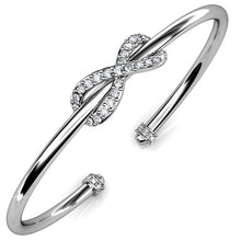 Infinity Knot Bangle Embellished with Swarovski crystals - Brilliant Co