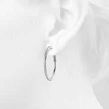 Load image into Gallery viewer, Endless Hoop Earrings Embellished with Swarovski crystals - Brilliant Co