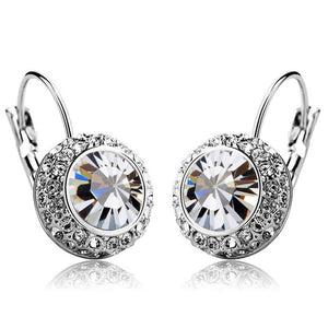Manichi Earrings Embellished with Swarovski crystals - Brilliant Co