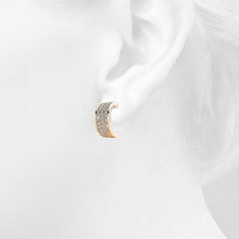 Crescent Moon Earrings Embellished with Swarovski crystals - Brilliant Co