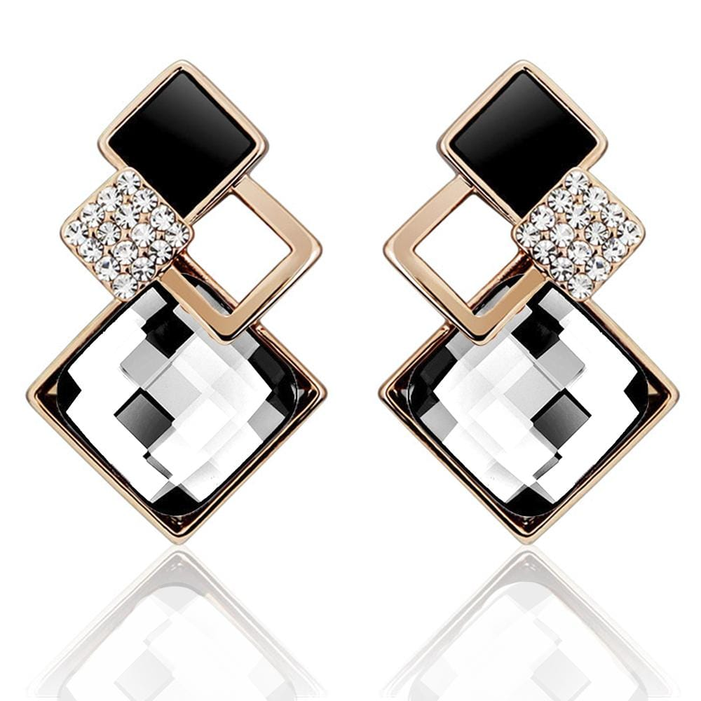 Palazzo Earrings Embellished with Swarovski crystals - Brilliant Co