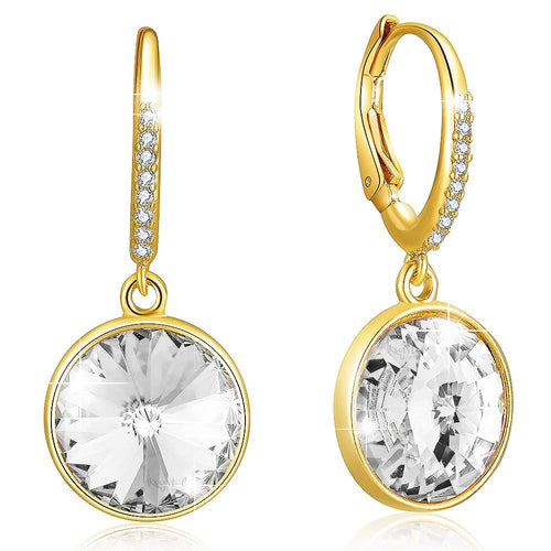 Precious Drop Earrings Clear Crystal w/Swarovski Crystals