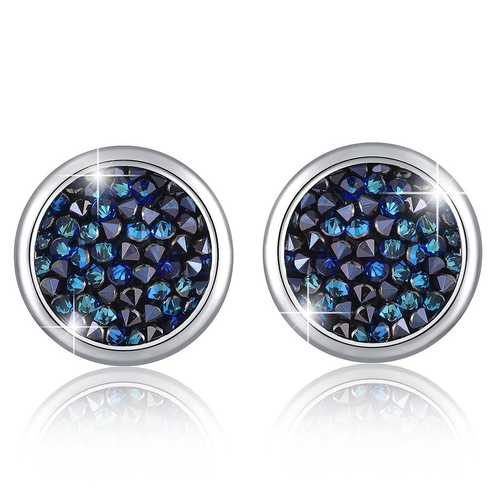 Glitzy Stud Earrings Wg Silver Night Ft Crystals From Swarovski