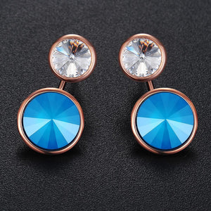 Precious Duo Drop Earrings Ft Crystals From Swarovski