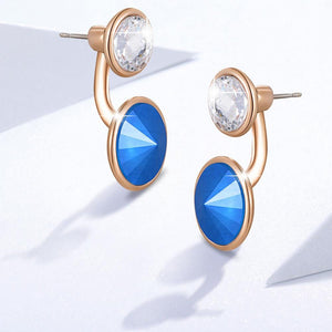Precious Duo Drop Earrings Embellished with Swarovski crystals - Brilliant Co