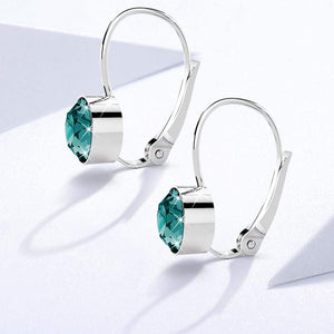 Audrey Lever Back Earrings Featuring Crystals From Swarovski