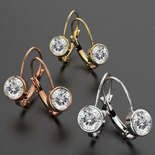 Audrey Lever Back Earrings Embellished with Swarovski crystals - Brilliant Co