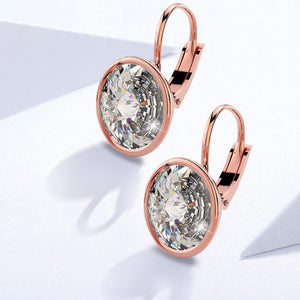 Audrey Lever Back Earrings Embellished with Swarovski crystals