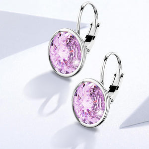 Kassandra Crystal Drop Earrings Embellished with Swarovski crystals - Brilliant Co