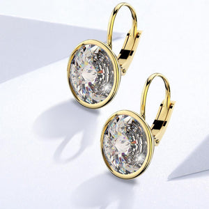 Audrey Lever Back Earrings Ft Crystals From Swarovski