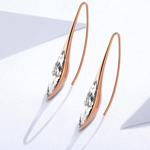 Athena's Beauty Dangle Earrings Embellished with Swarovski crystals