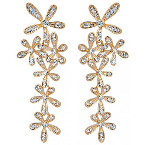 Magnolia Earrings Embellished with Swarovski crystals - Brilliant Co