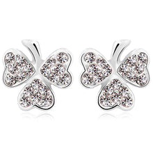 Three Heart Petals Earrings Embellished with Swarovski crystals - Brilliant Co