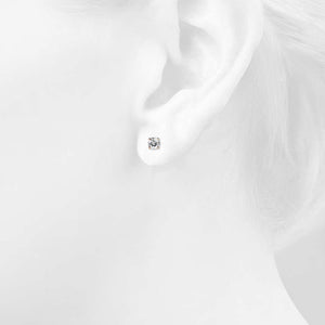 Solitaire Studs Embellished with Swarovski crystals - Brilliant Co