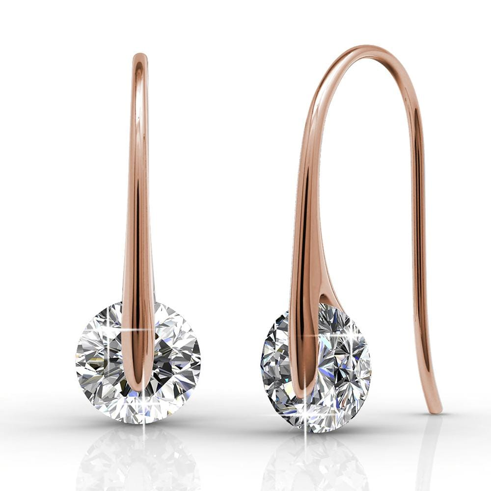 Crystal Earrings Embellished with Swarovski crystals - Brilliant Co