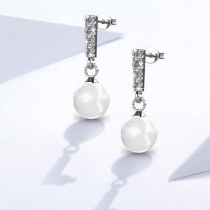 Lustrous Earrings Embellished with Swarovski crystals - Brilliant Co