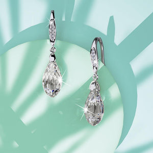 Midnight Dazzle Drop Earrings Ft. Crystals From Swarovski