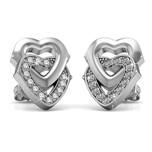 Sweet Hearts Studs Earrings Ft. Crystals From Swarovski