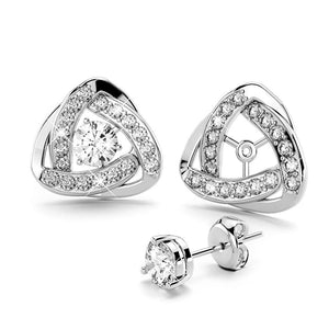Celtic Knot Stud Earrings Embellished with Swarovski crystals - Brilliant Co