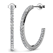 Flirty Pose Hoop Earrings Embellished with Swarovski crystals - Brilliant Co
