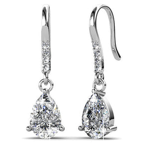 Pretty Pea Earrings Embellished with Swarovski crystals - Brilliant Co