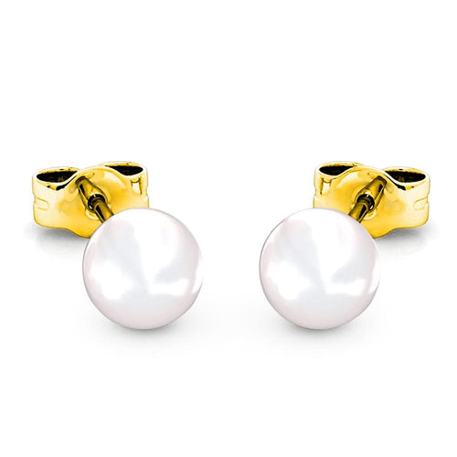 Purity Pearl Stud Earrings Embellished with Swarovski Crystal Pearls