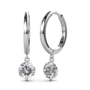 Clear Sensual Drop Earrings Embellished with Swarovski crystals