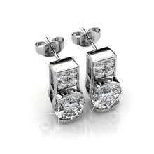 Intricate Glam Drop Earrings Embellished with Swarovski crystals - Brilliant Co