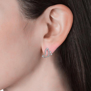 Butterfly Buff Stud Earrings Ft. Crystals From Swarovski