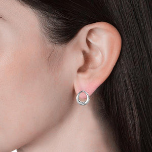 Leila Stud Earrings Embellished with Swarovski crystals - Brilliant Co