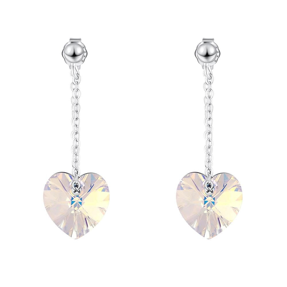 My Love Dangle Earrings Embellished with Crystals from Swarovski® Moonlight - Brilliant Co