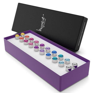10 Pairs Multi-Colour Stud Set Embellished with Swarovski crystals