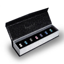 Boxed 7 Pairs Stud Earrings Set Embellished with Swarovski crystals - Brilliant Co