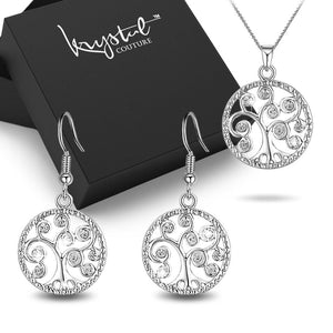 Boxed Tree Of Aurelia Necklace and Earrings Set - Brilliant Co