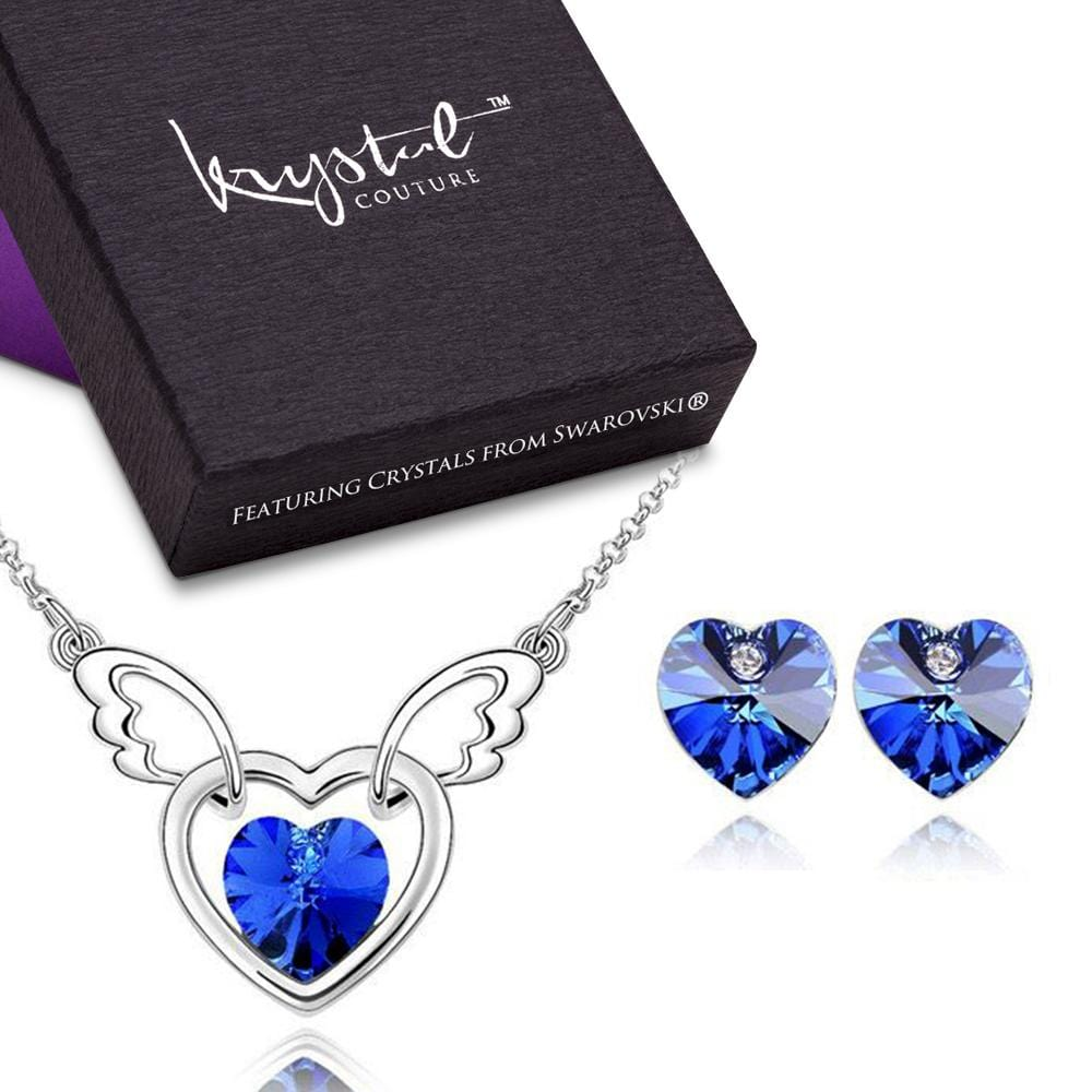 In The Arms Of The Angel Set Colbalt Blue Embellished with Swarovski crystals - Brilliant Co