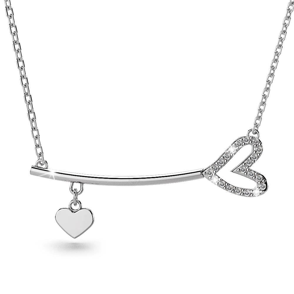 Romantic Love Bar Necklace Embellished with Swarovski crystals - Brilliant Co