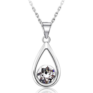 Morning Dew Necklace Embellished with Swarovski crystals - Brilliant Co